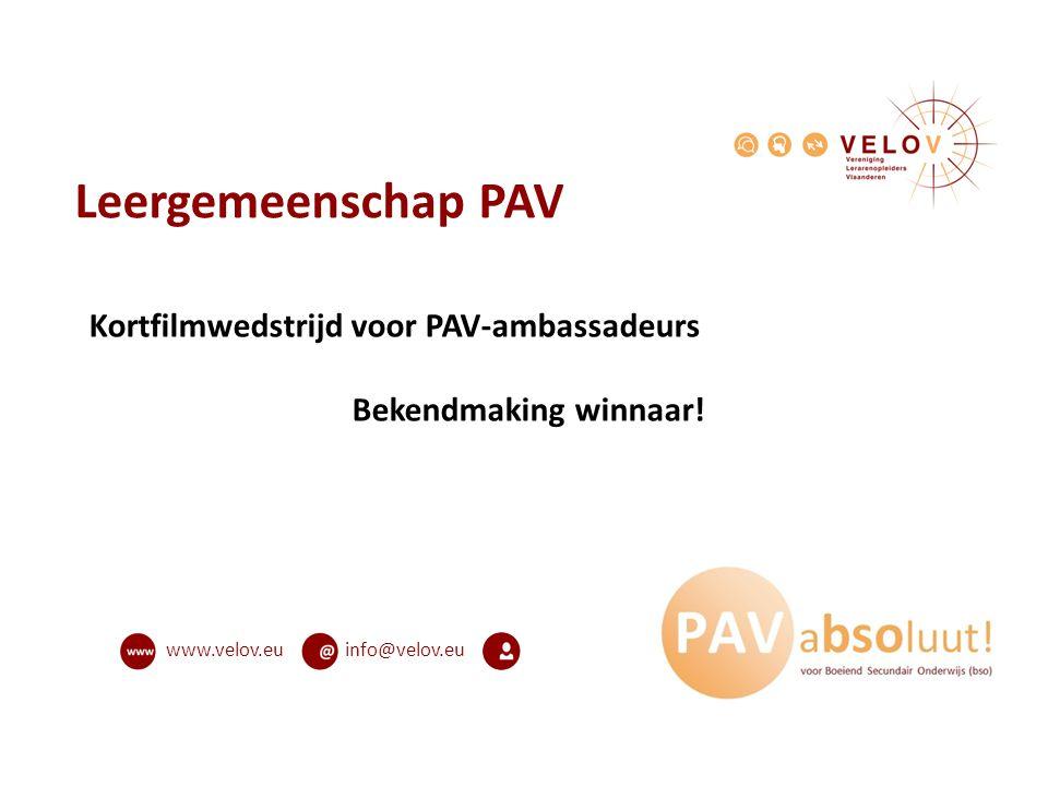 Leergemeenschap PAV Kortfilmwedstrijd voor PAV-ambassadeurs