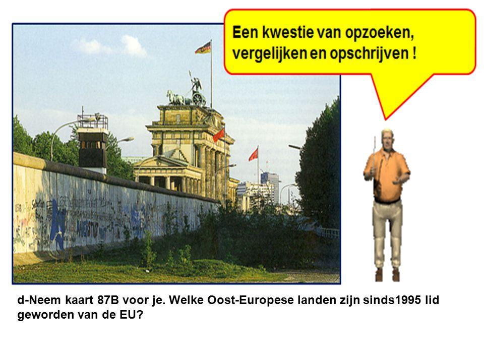 Europa voor de val van het IJzeren Gordijn in 1989.