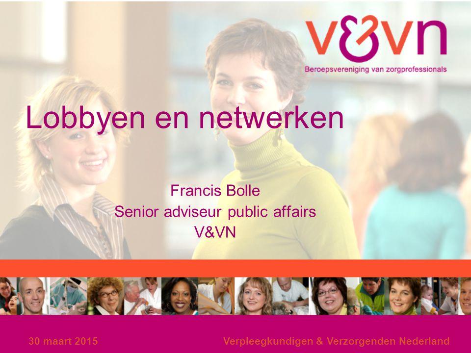 Francis Bolle Senior adviseur public affairs V&VN
