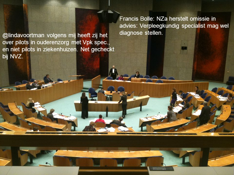 Netwerken Francis Bolle: NZa herstelt omissie in advies: Verpleegkundig specialist mag wel diagnose stellen.