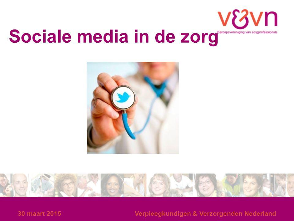 Sociale media in de zorg