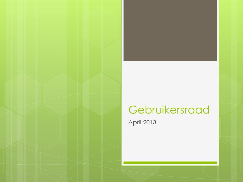 Gebruikersraad April 2013