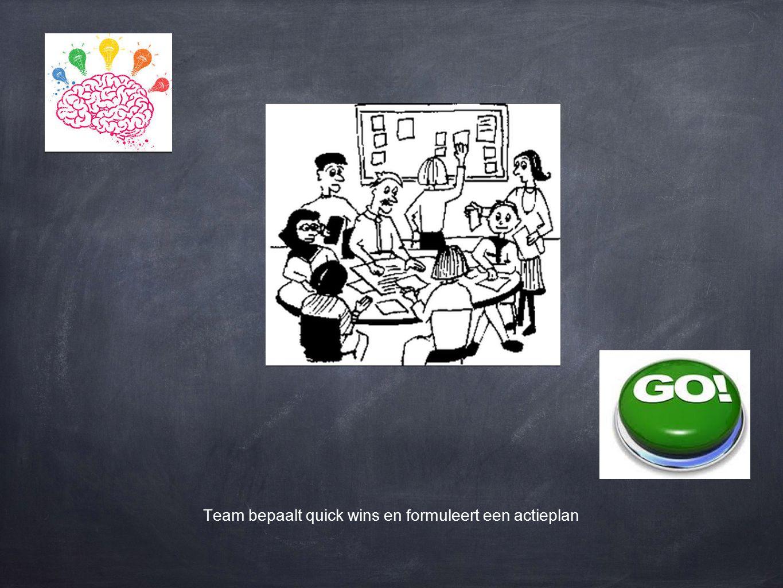 Team bepaalt quick wins en formuleert een actieplan