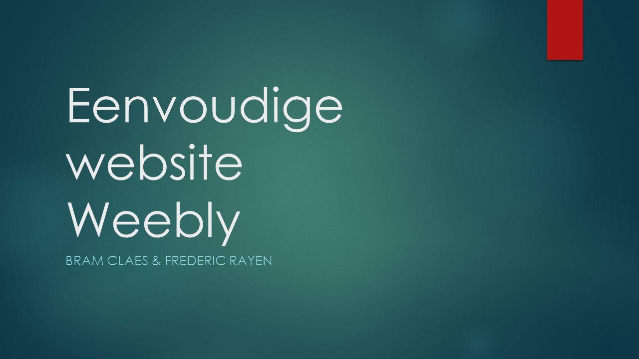 Eenvoudige website Weebly