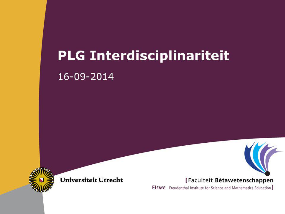 PLG Interdisciplinariteit