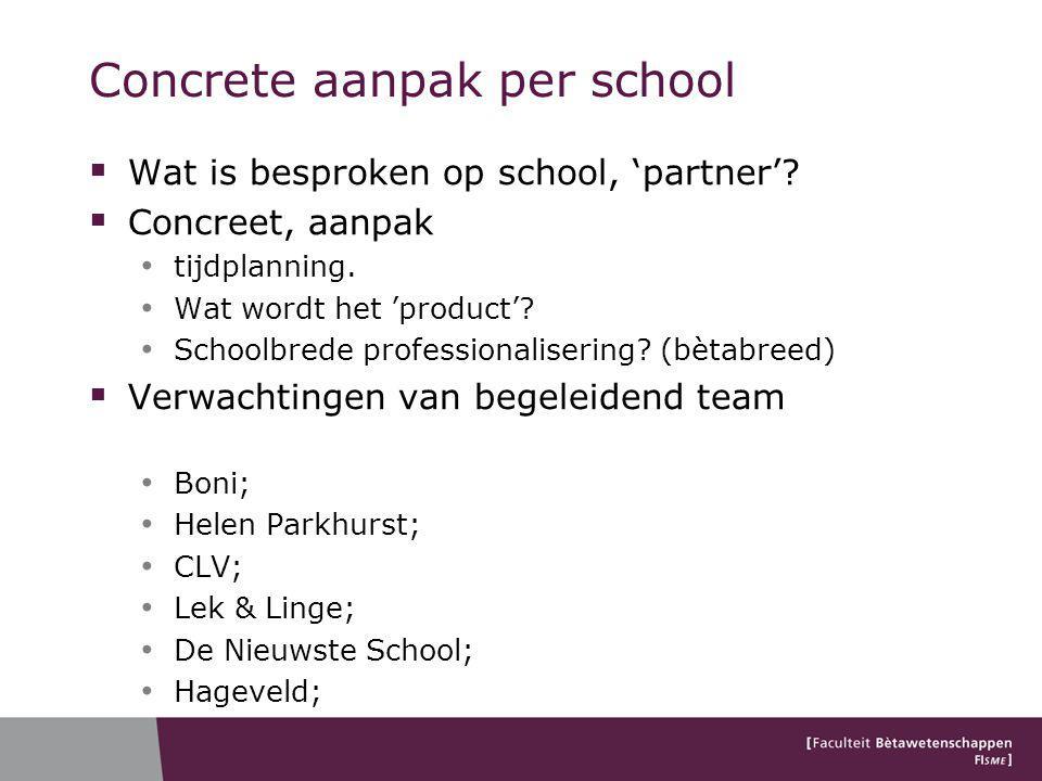 Concrete aanpak per school