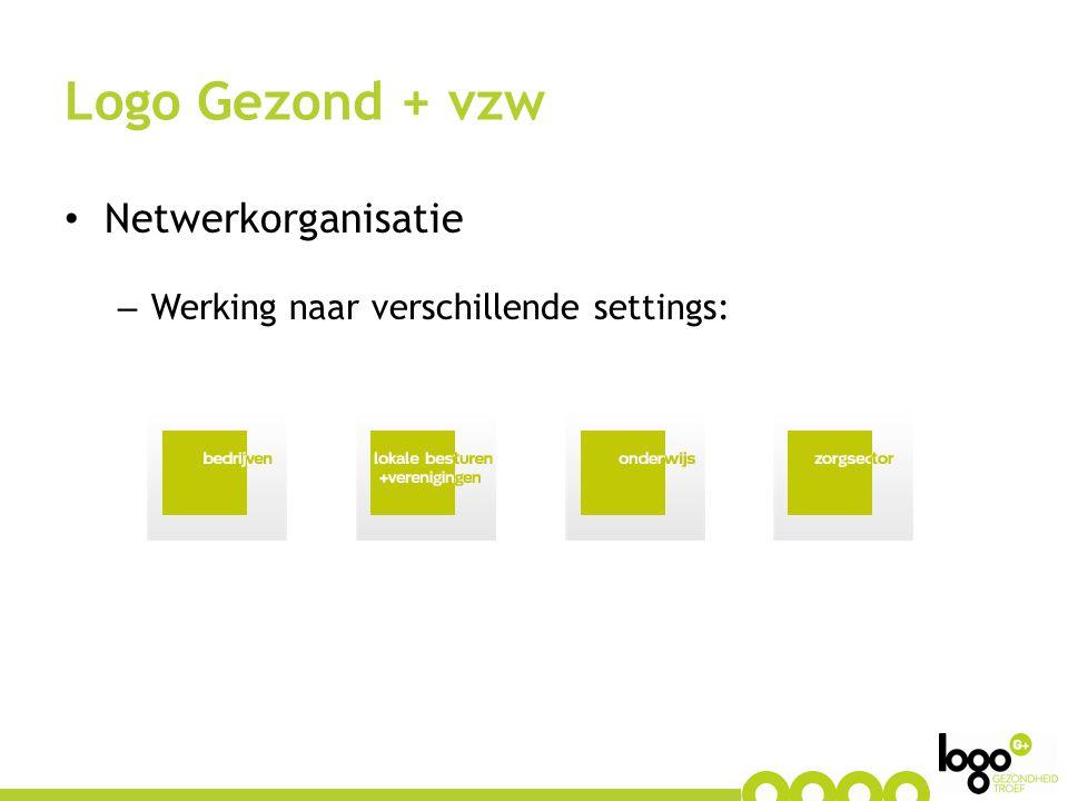 Logo Gezond + vzw Netwerkorganisatie