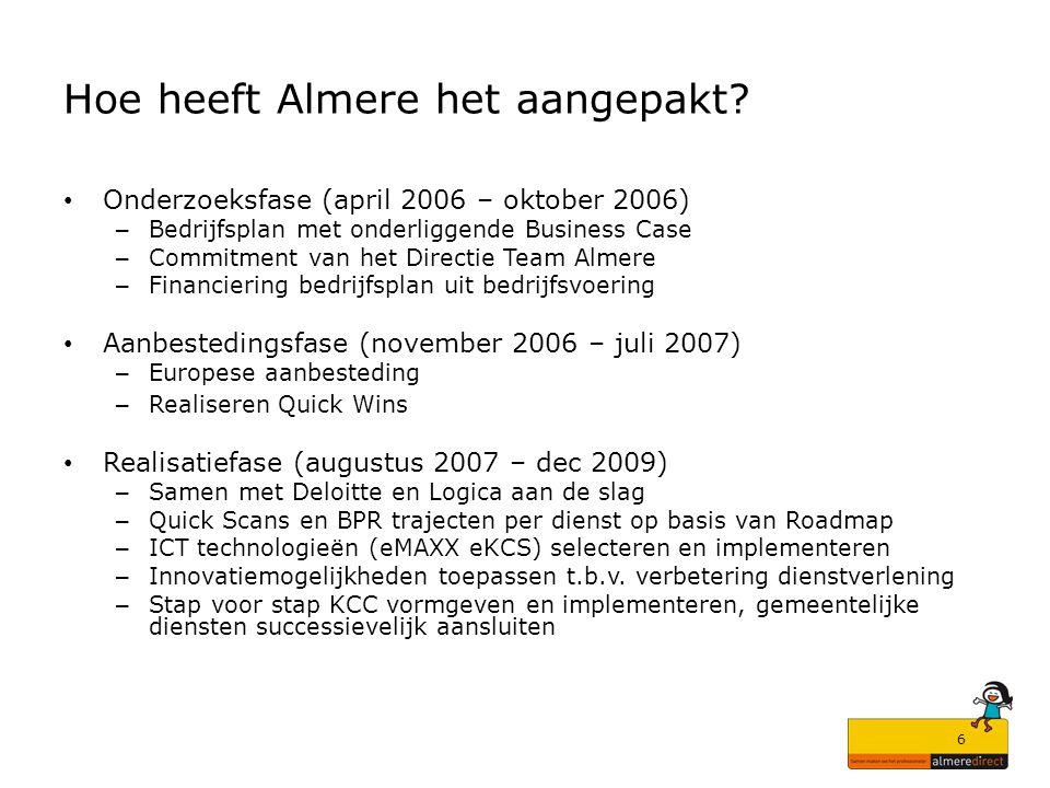 Hoe heeft Almere het aangepakt