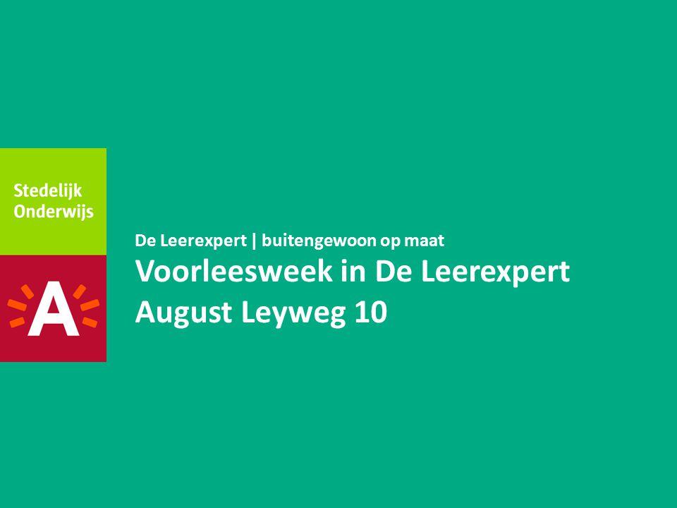 Voorleesweek in De Leerexpert August Leyweg 10
