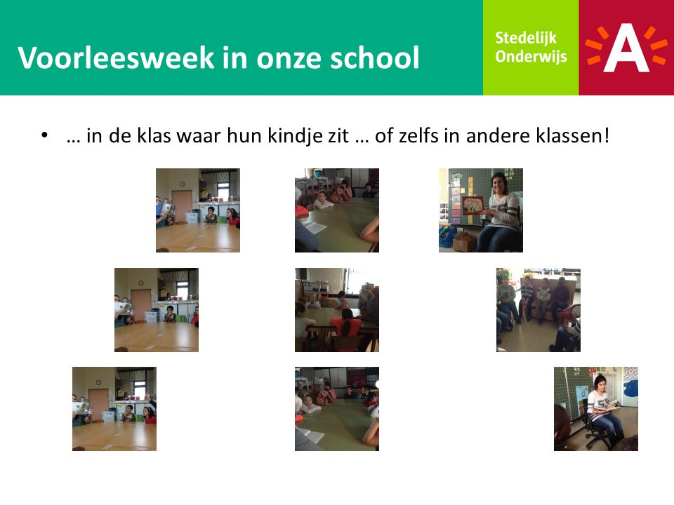 Voorleesweek in onze school