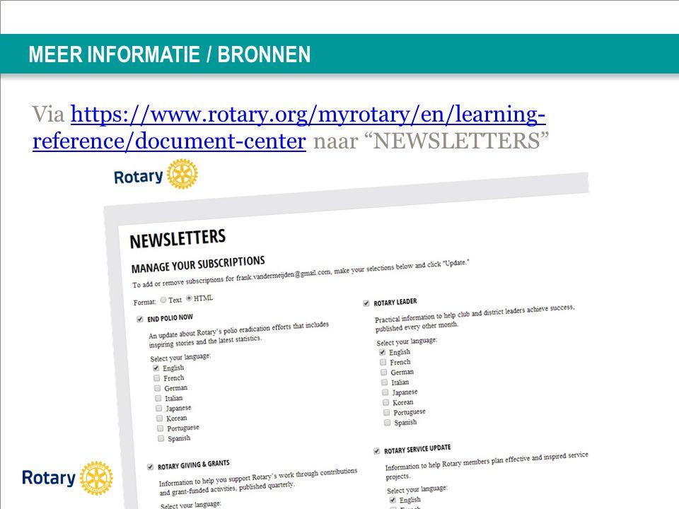 MEER INFORMATIE / BRONNEN