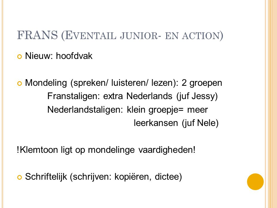 FRANS (Eventail junior- en action)