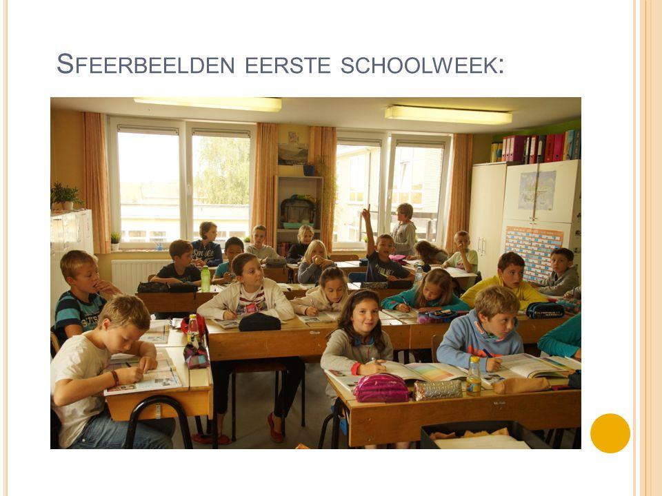 Sfeerbeelden eerste schoolweek: