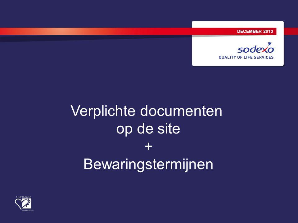 Verplichte documenten