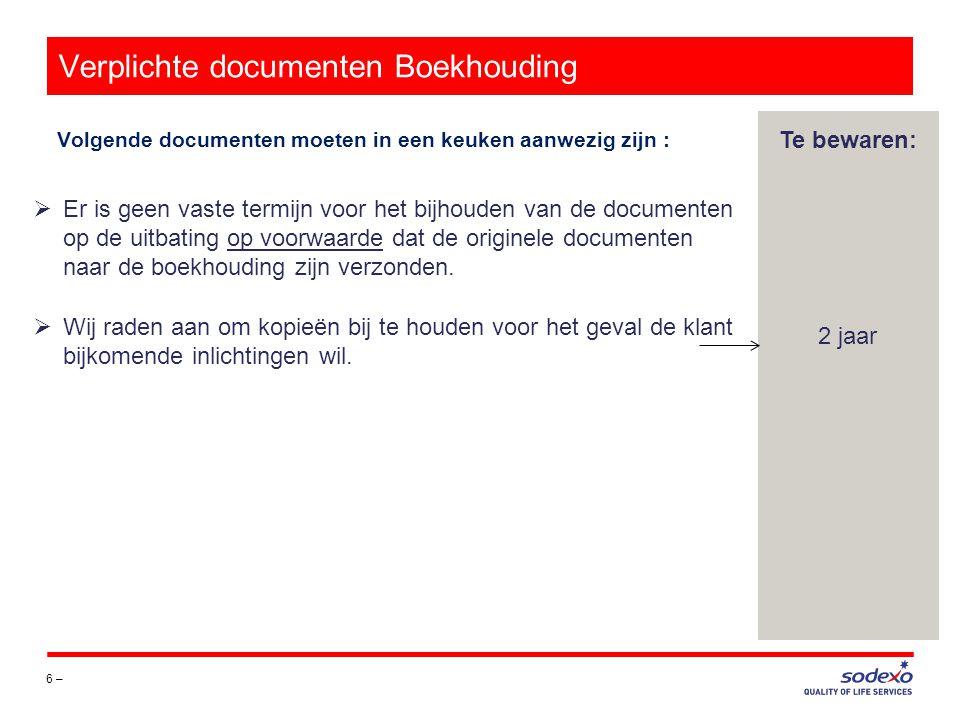 Verplichte documenten Boekhouding