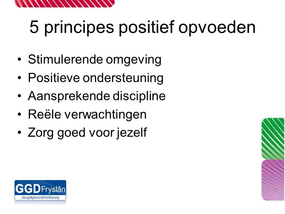 5 principes positief opvoeden