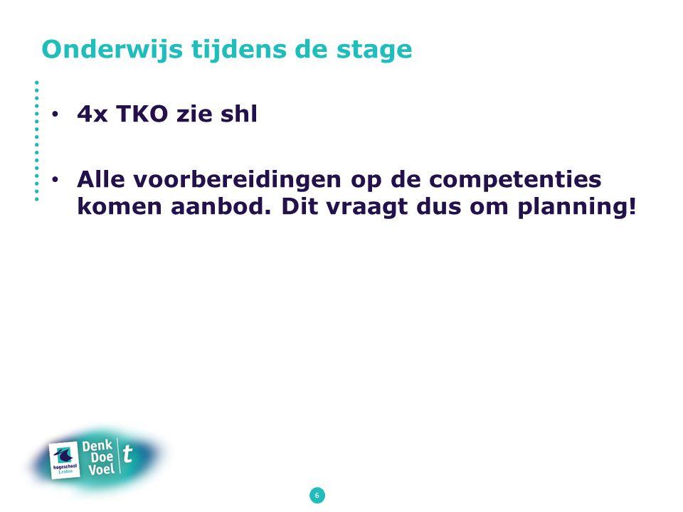 Onderwijs tijdens de stage