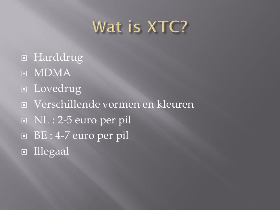 Wat is XTC Harddrug MDMA Lovedrug Verschillende vormen en kleuren