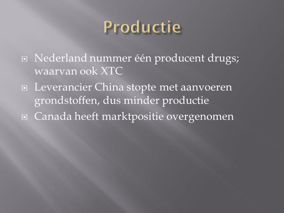 Productie Nederland nummer één producent drugs; waarvan ook XTC