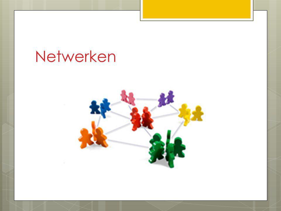 Netwerken Vakcollega's school, collega's andere vakken (JAL), hogere jaren, bedrijfsleven, collega's andere scholen.