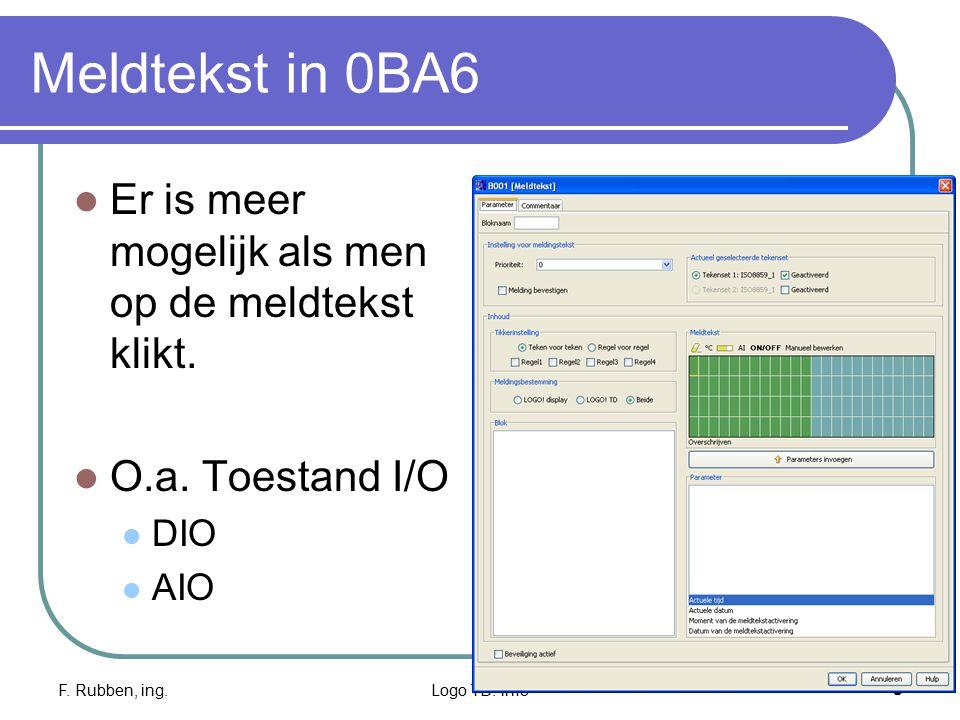 Meldtekst in 0BA6 Er is meer mogelijk als men op de meldtekst klikt.