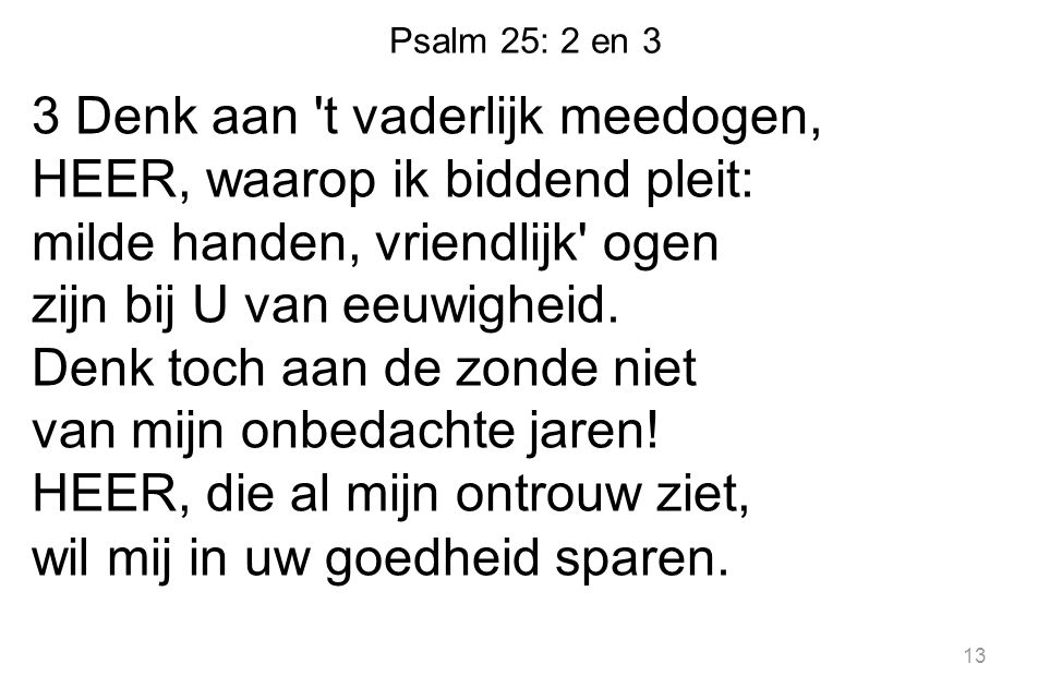 Psalm 25: 2 en 3