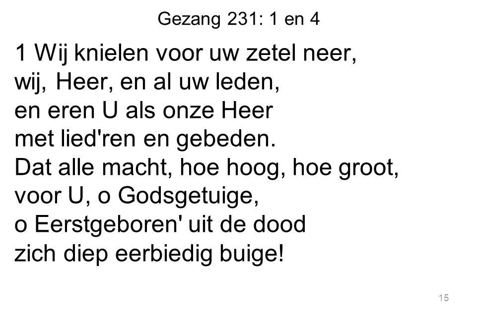 Gezang 231: 1 en 4