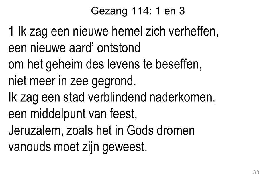 Gezang 114: 1 en 3