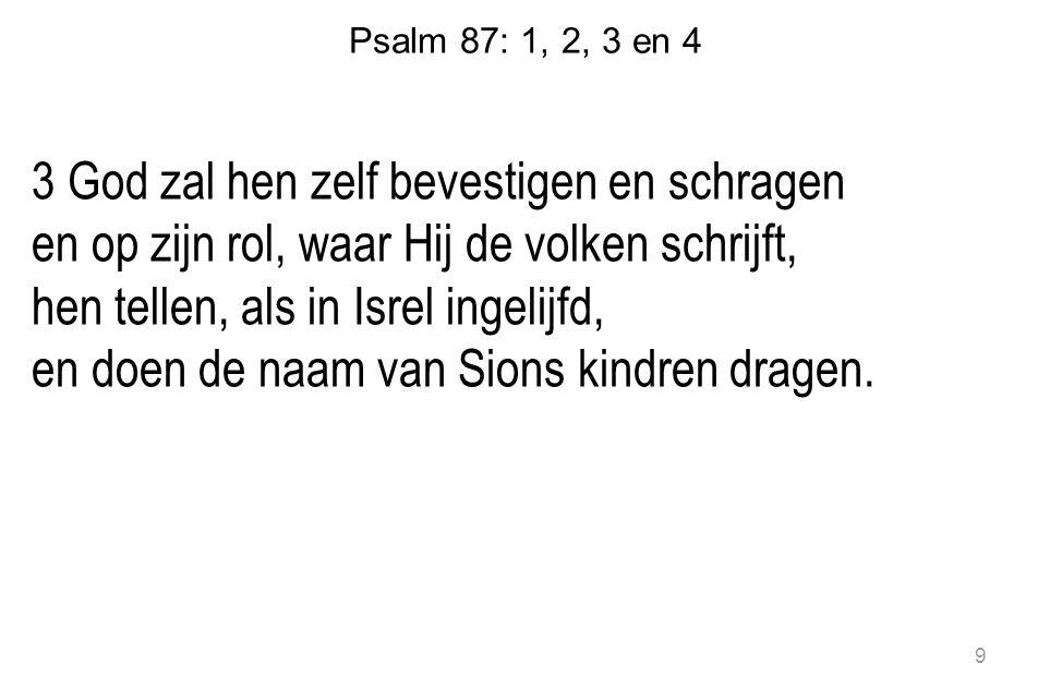 Psalm 87: 1, 2, 3 en 4