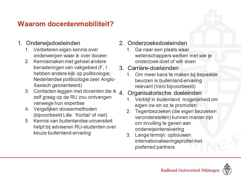 Waarom docentenmobiliteit