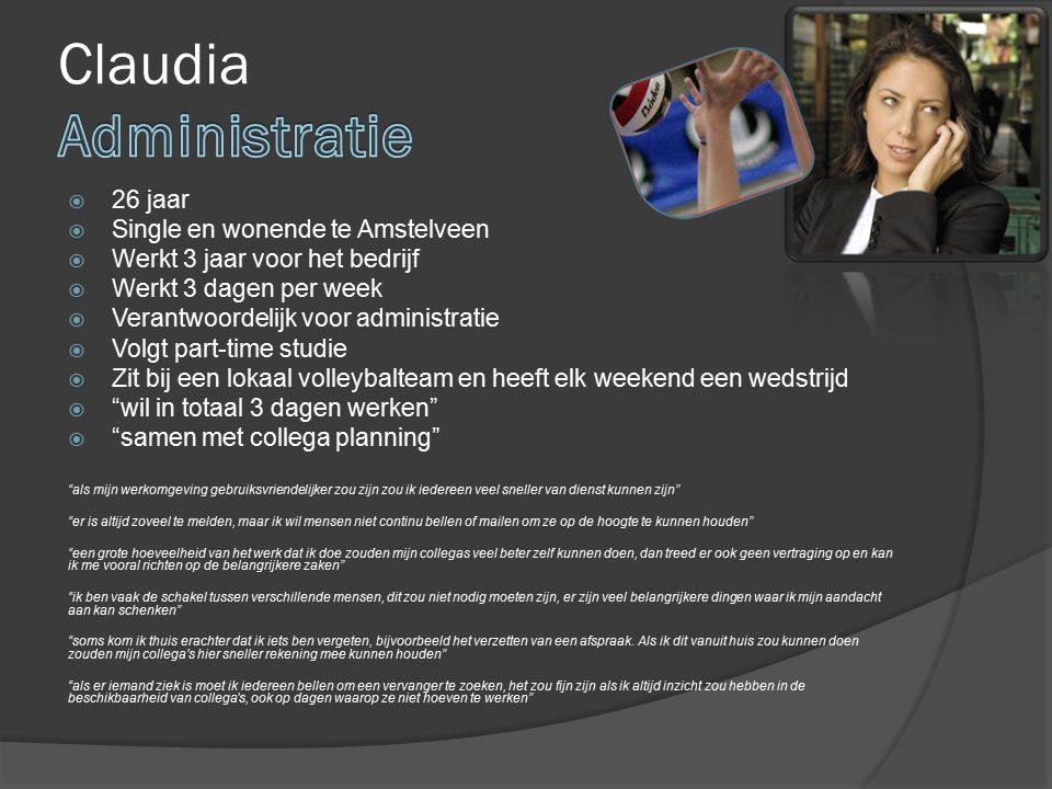 Claudia Administratie