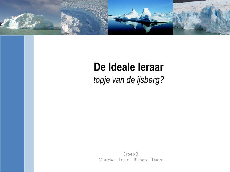De Ideale leraar topje van de ijsberg