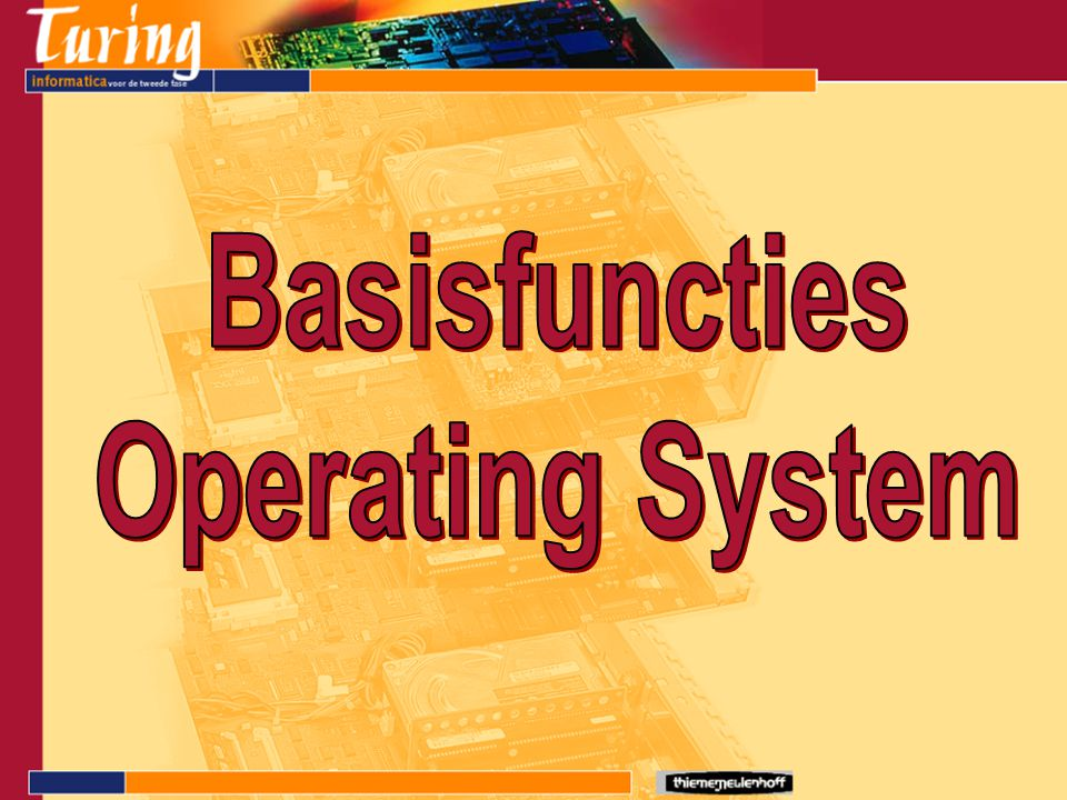 Basisfuncties Operating System