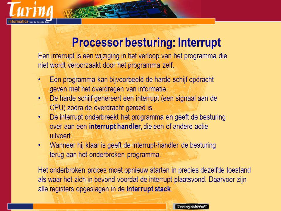 Processor besturing: Interrupt