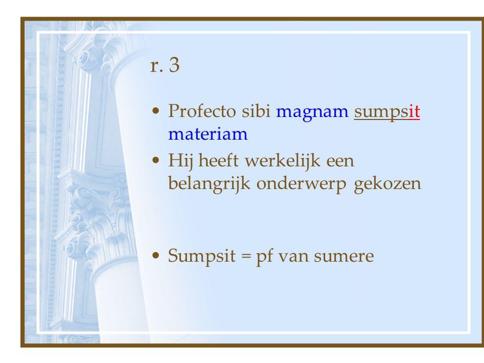 r. 3 Profecto sibi magnam sumpsit materiam