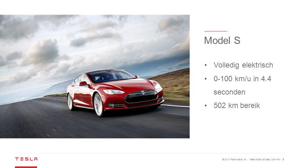 Model S Volledig elektrisch 0-100 km/u in 4.4 seconden 502 km bereik