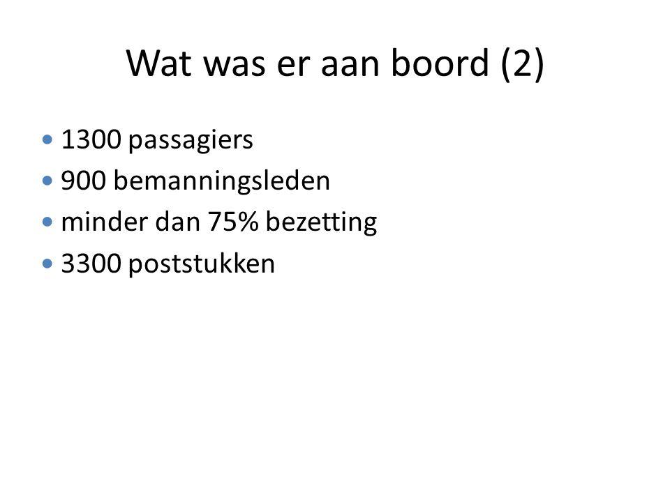 Wat was er aan boord (2) 1300 passagiers 900 bemanningsleden