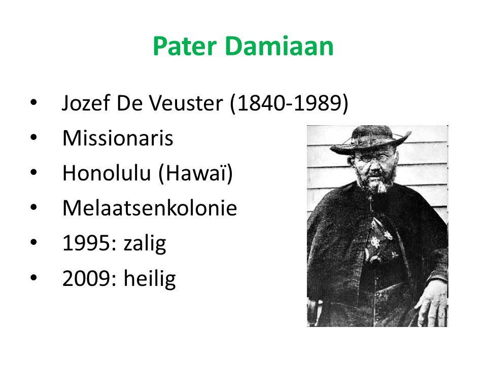 Pater Damiaan Jozef De Veuster (1840-1989) Missionaris