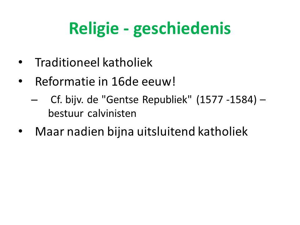 Religie - geschiedenis
