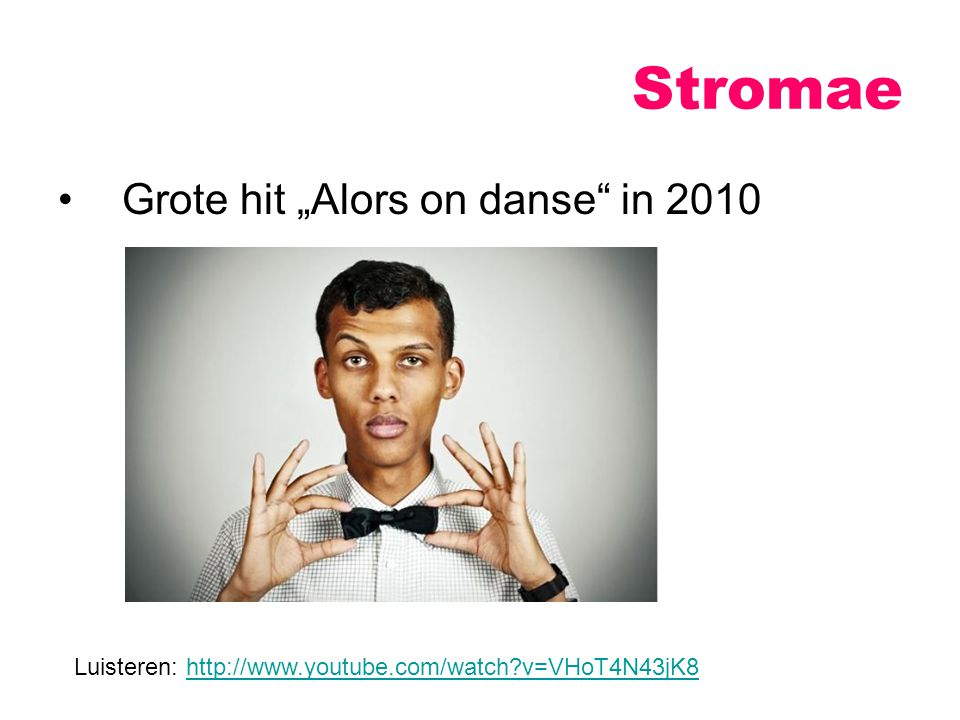 "Stromae Grote hit ""Alors on danse in 2010"