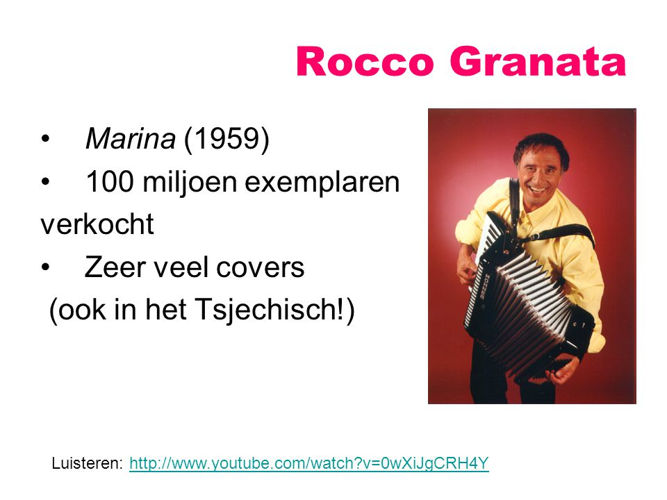 Rocco Granata Marina (1959) 100 miljoen exemplaren verkocht