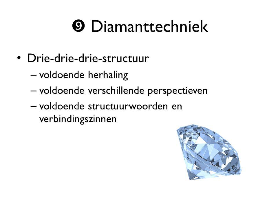  Diamanttechniek Drie-drie-drie-structuur voldoende herhaling