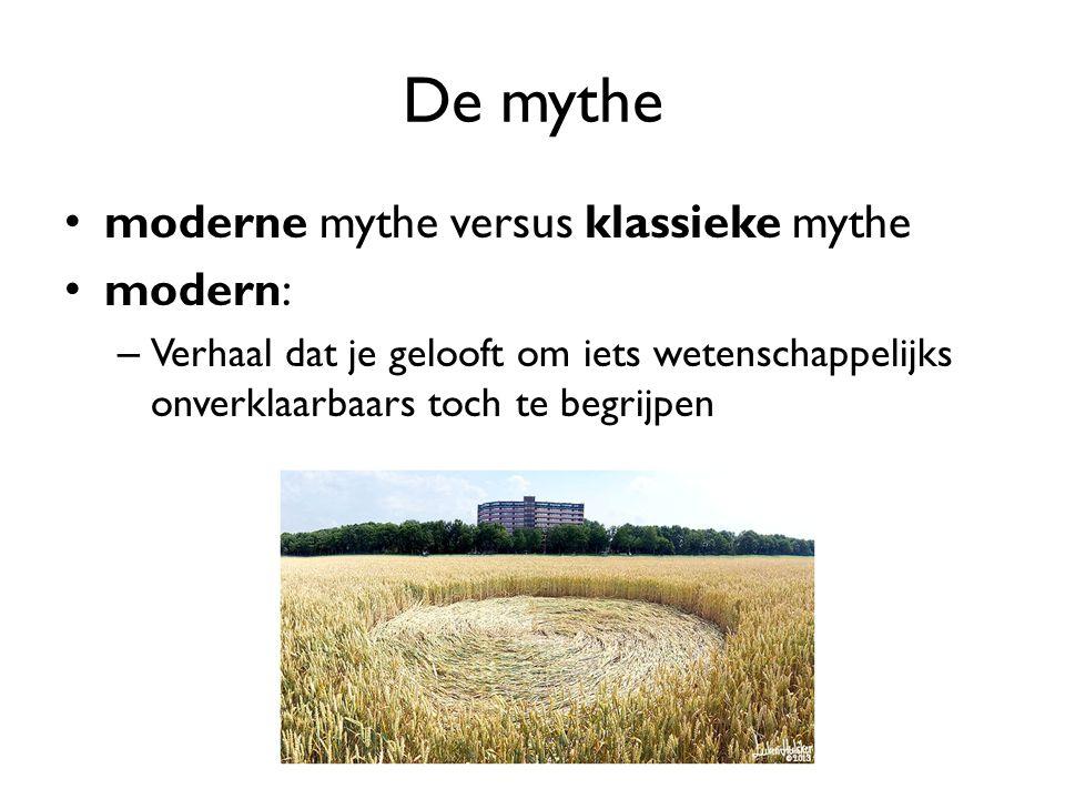 De mythe moderne mythe versus klassieke mythe modern: