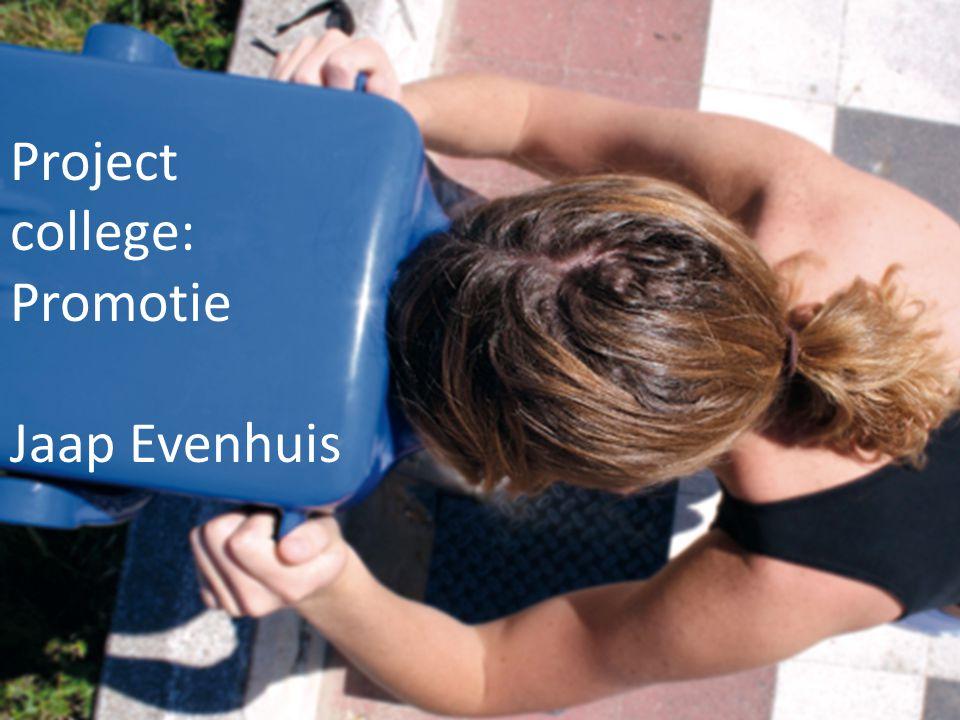Project college: Promotie Jaap Evenhuis