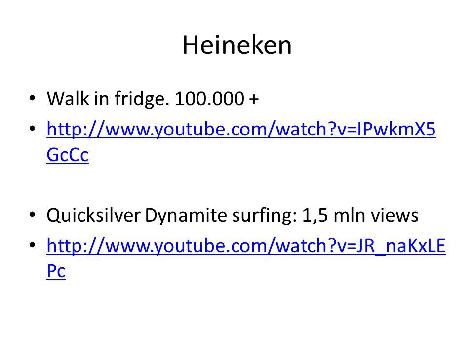 Heineken Walk in fridge. 100.000 +