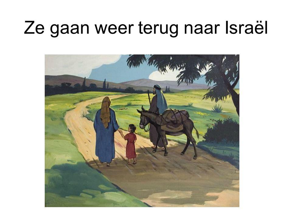 Ze gaan weer terug naar Israël