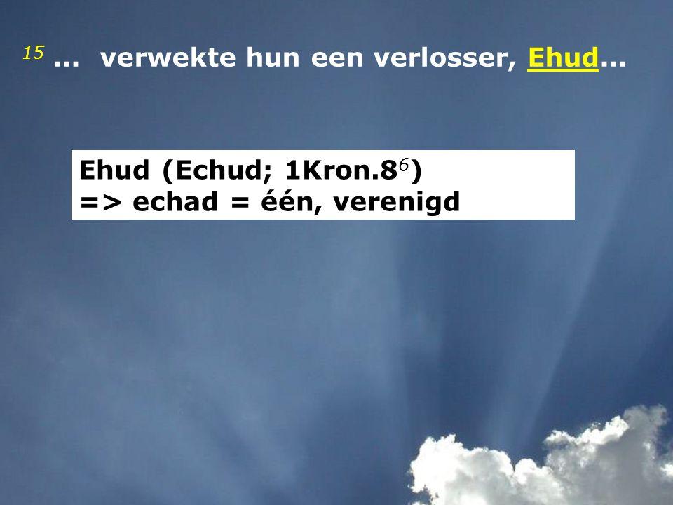 15 ... verwekte hun een verlosser, Ehud...