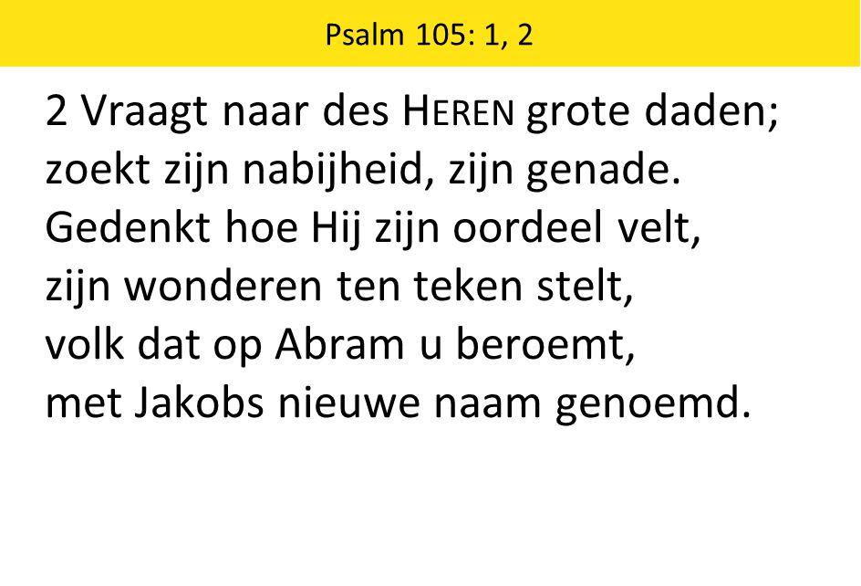 2 Vraagt naar des Heren grote daden;