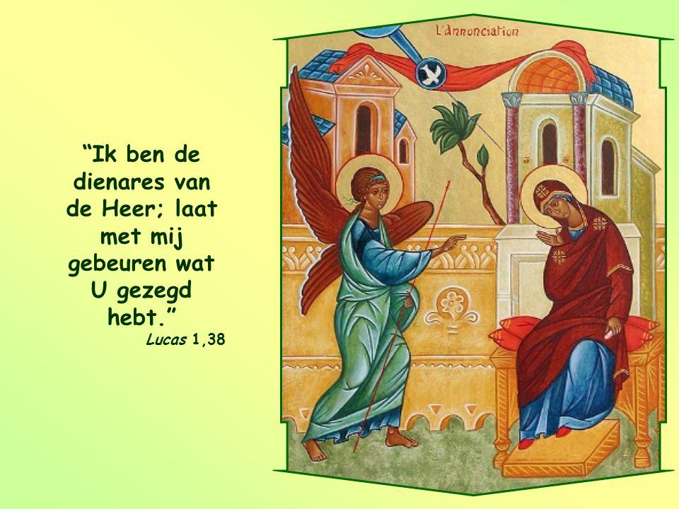 Ik ben de dienares van de Heer; laat met mij gebeuren wat U gezegd hebt.