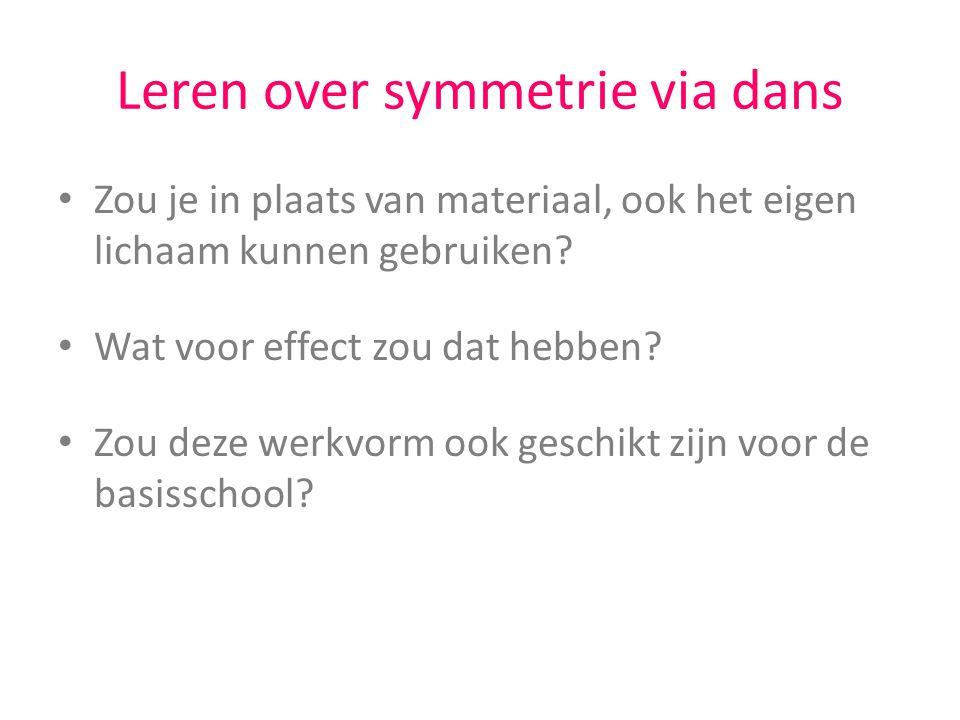 Leren over symmetrie via dans